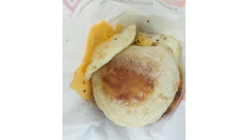 Dunkin Donuts breakfast sandwich fail