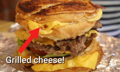 Grilled cheese cheeseburger five guys