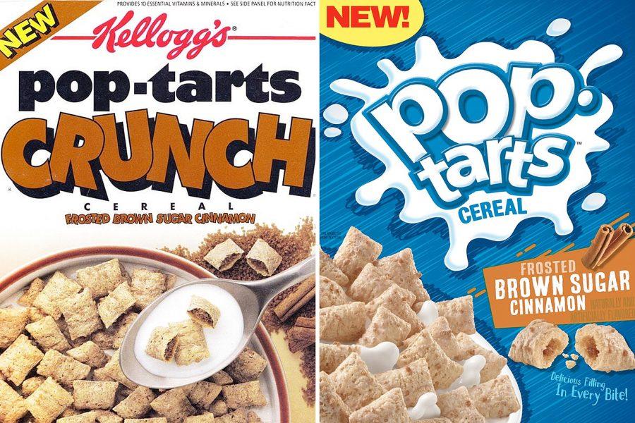 Pop Tarts Crunch Cereal new box versus original box