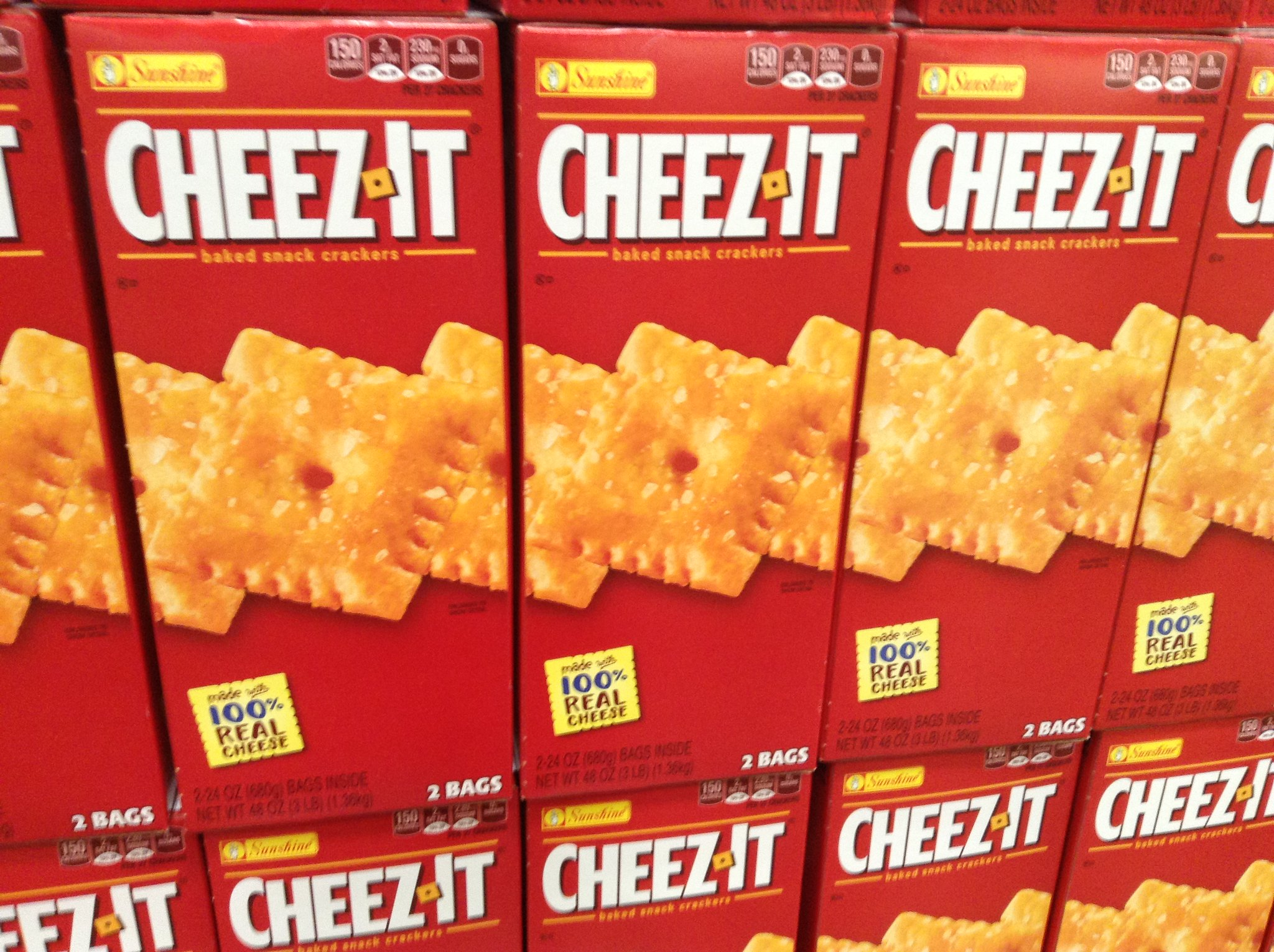 boxes of cheez-it crackers