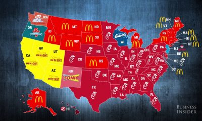 Fast food restaurants are everywhere.