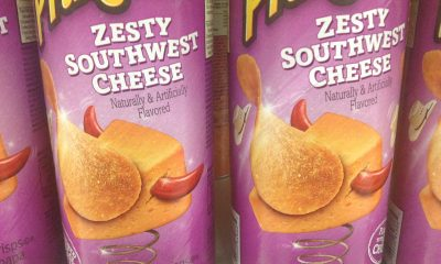 two tubes of Pringles zesty southwest cheese