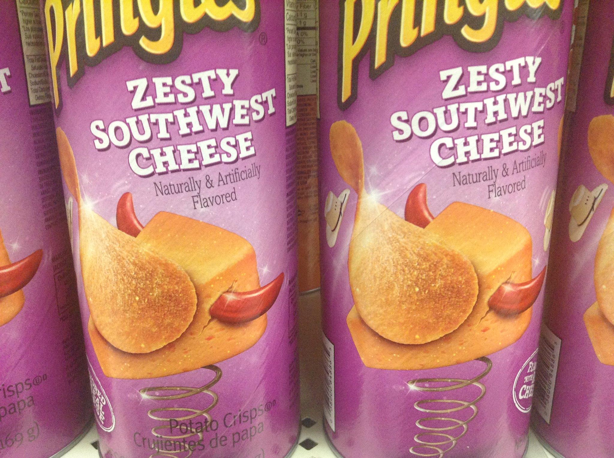 Pringles zesty southwest cheese