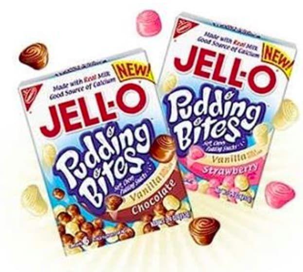 Jell-O pudding bites