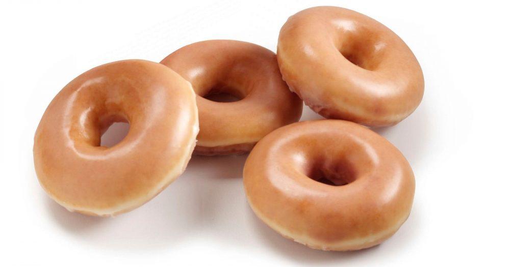 Four Original Glazed Doughnuts