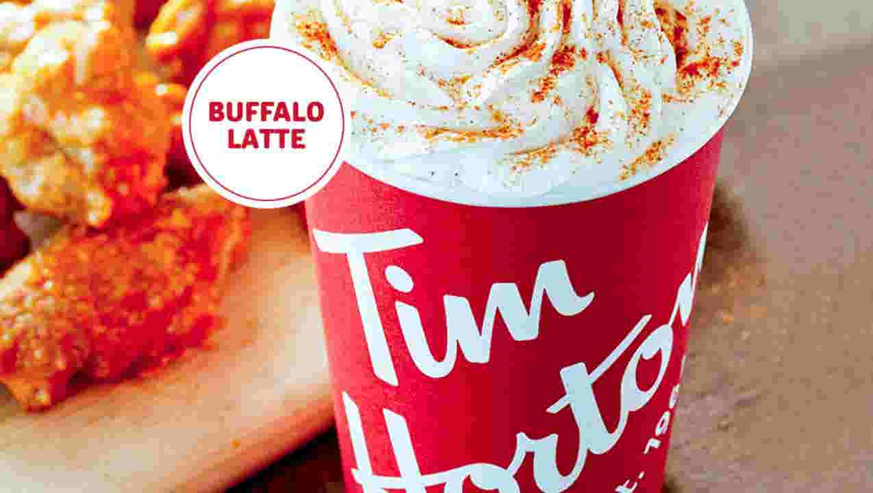 Buffalo-flavored latte from Tim Hortons