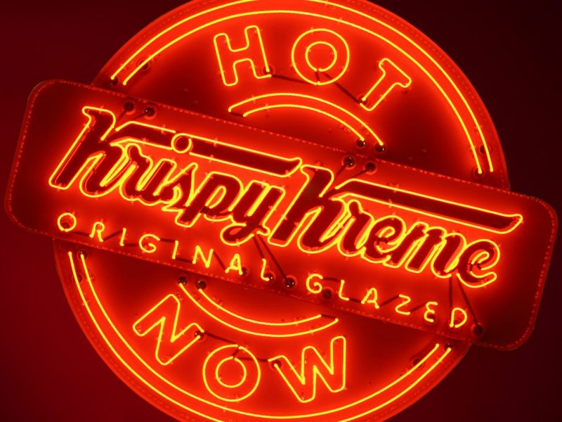 Hot Light Krispy Creme Original Glazed Doughnuts