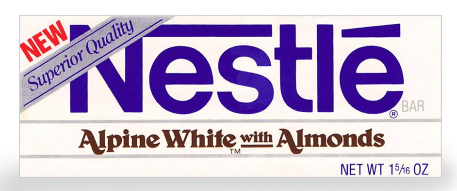 Discontinued Candy Nestle Alpine White