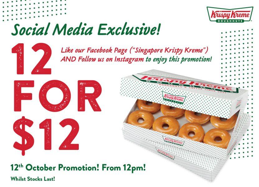 Krispy Kreme Promotion 12 for 12