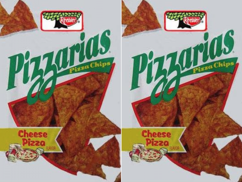 Keebler Pizzarias chips Cheese Pizza bags