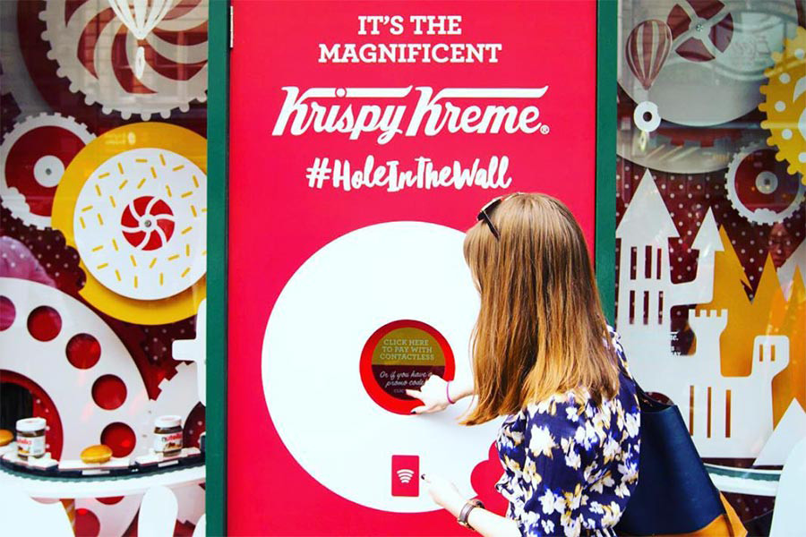 krispy kreme welcomes the future with a donut atm machine