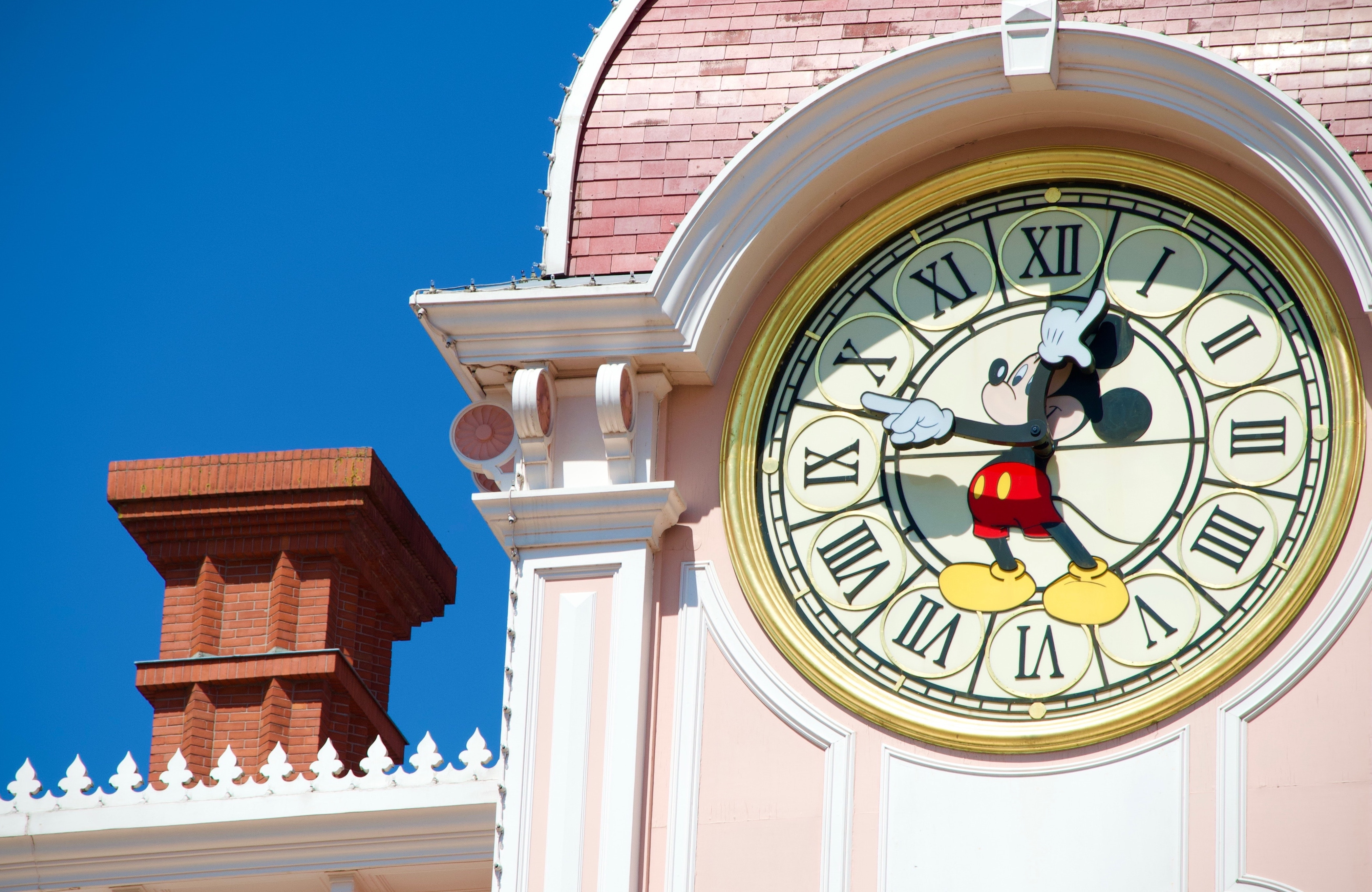 mickey mouse clock showing time