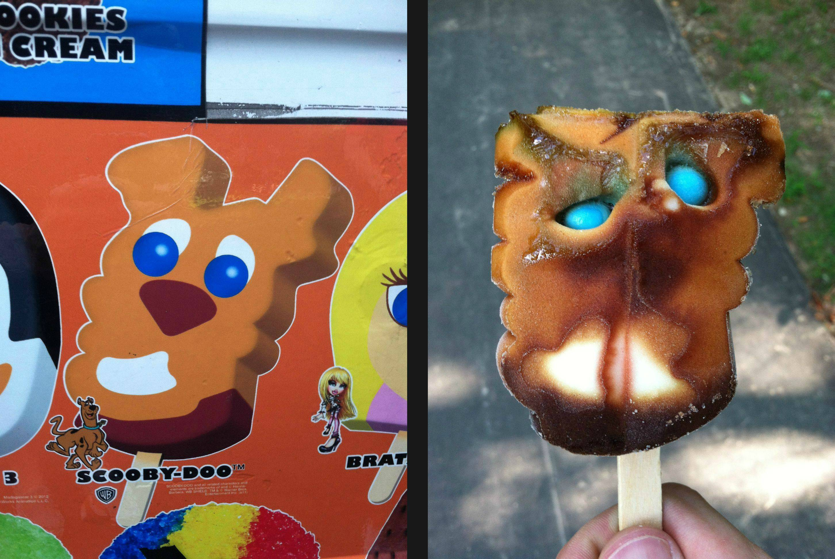 scooby-doo popsicle character
