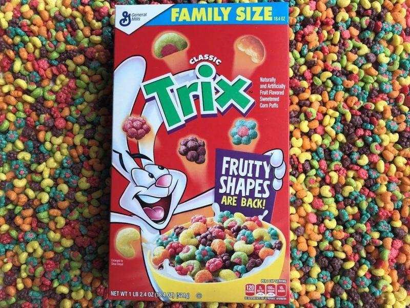 Trix Fruit Shaped Cereal