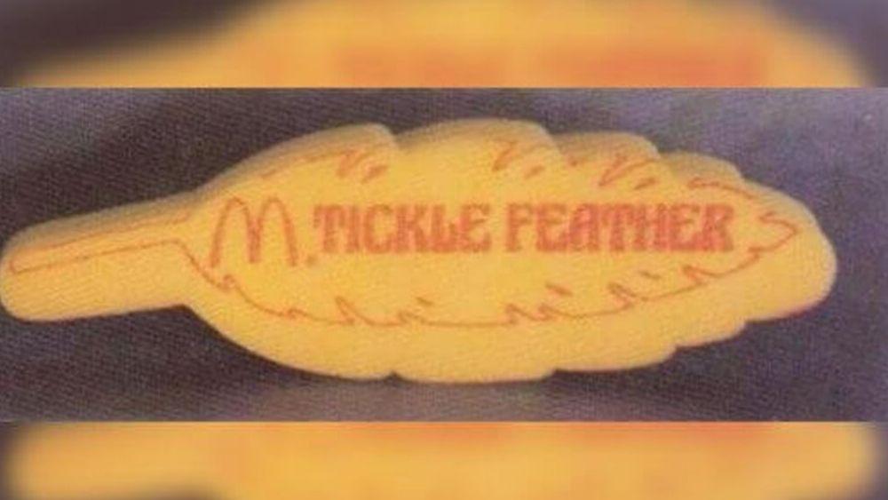 McDonalds Foam Tickle Feather