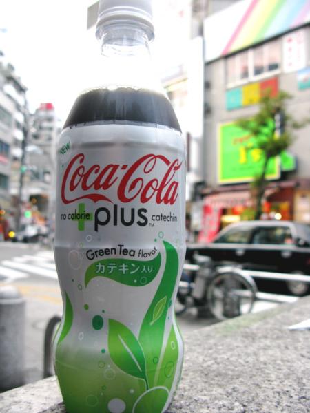 Coca Cola Plus green tea flavor
