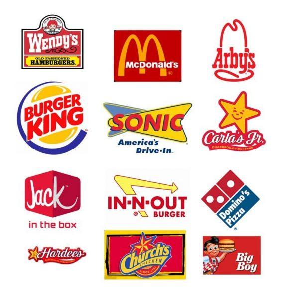 many fast food logos