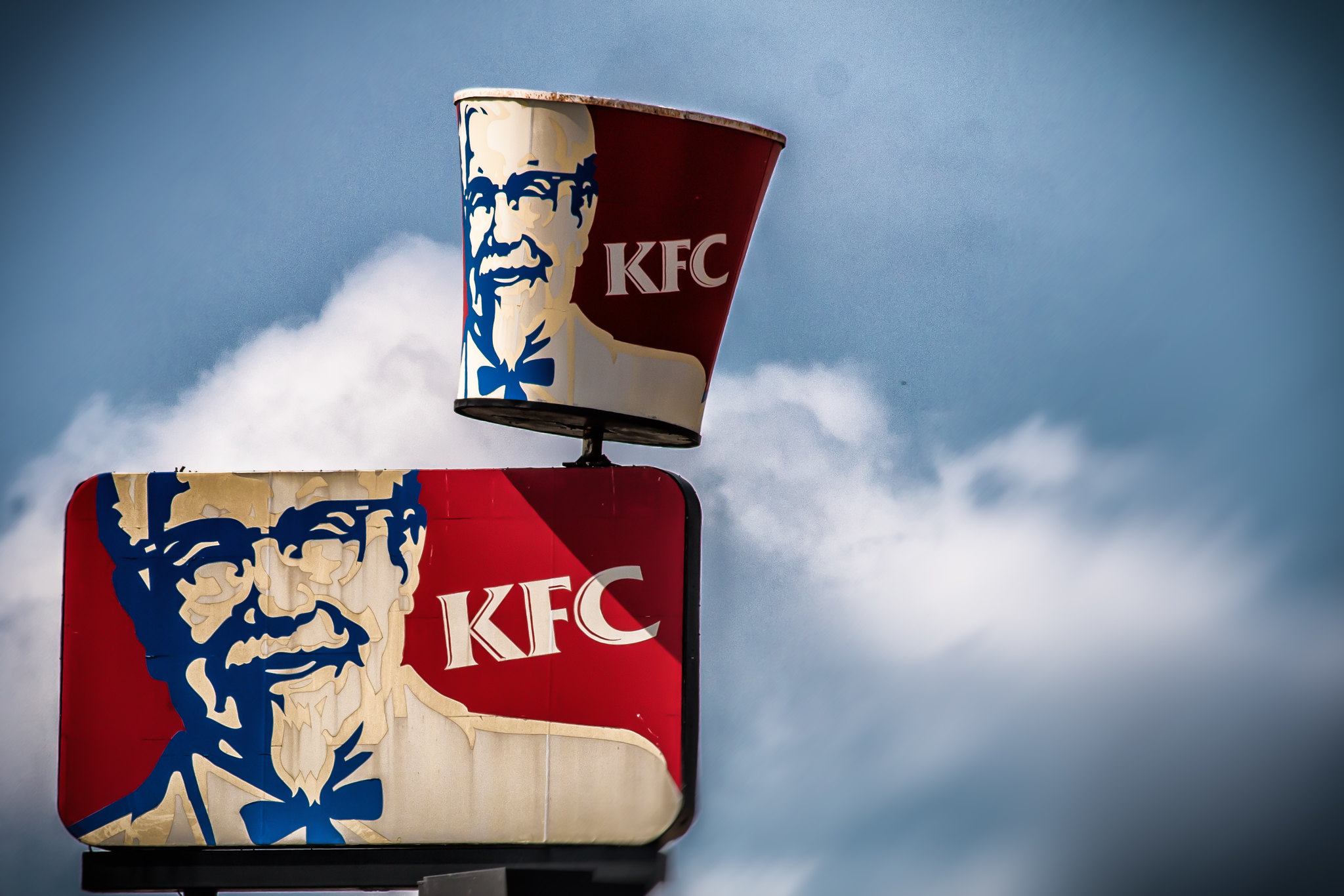 KFC logo and bucket