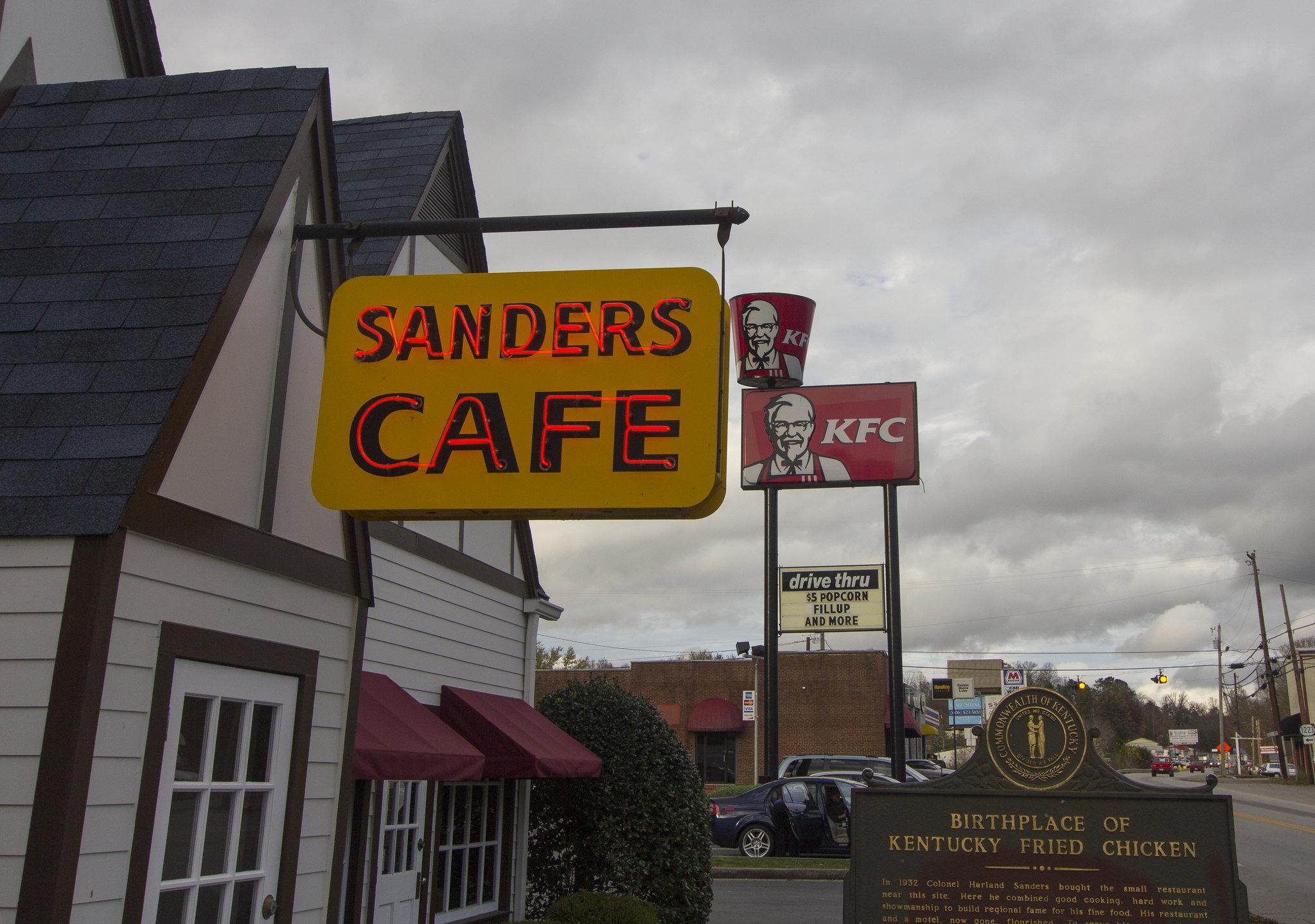 sanders cafe signage