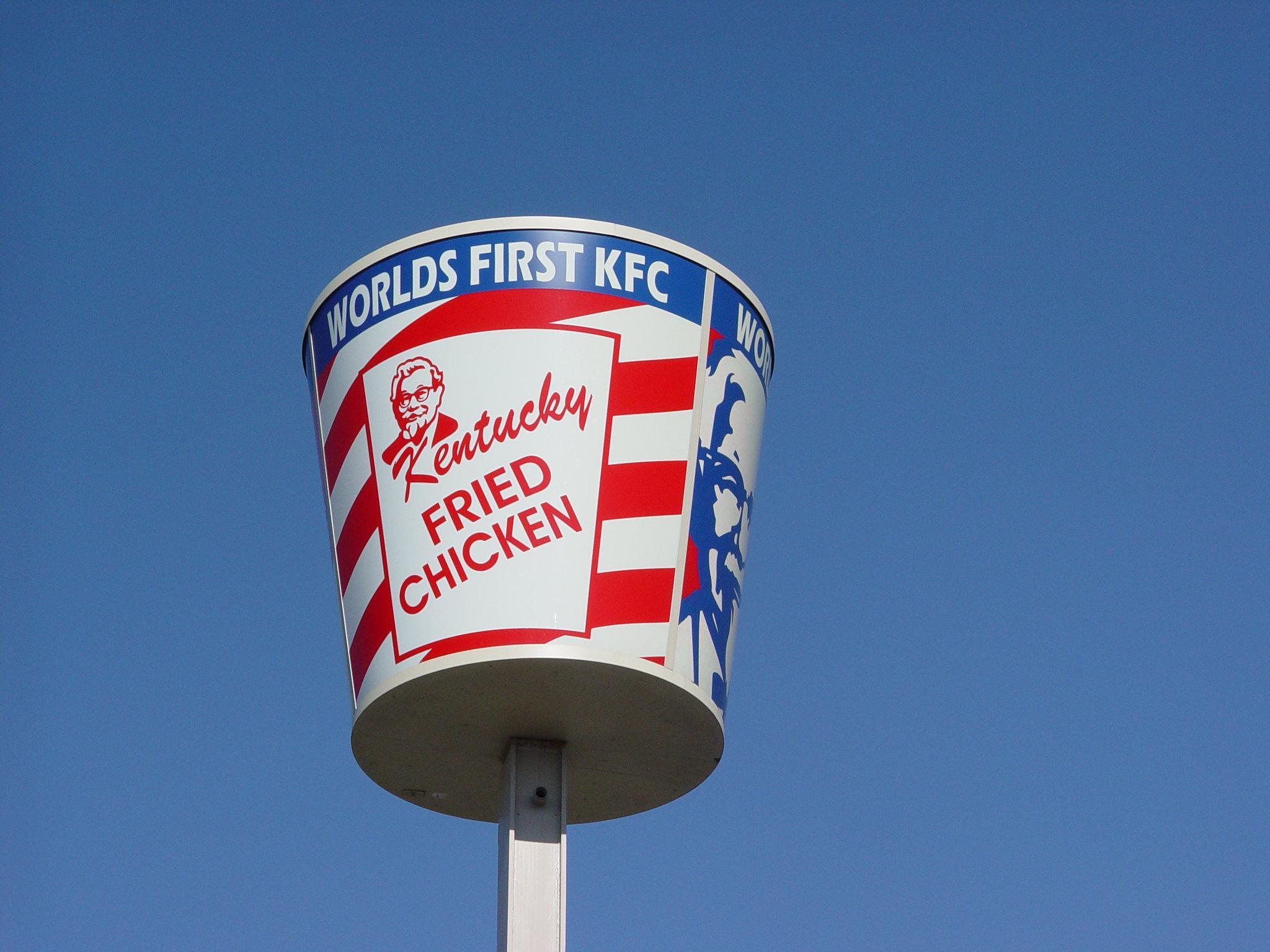 KFC bucket signage