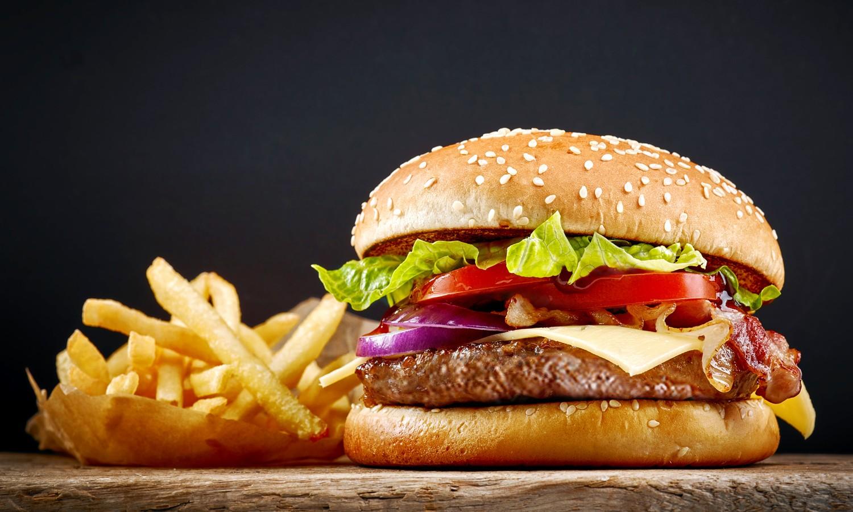 McDonalds burger fries