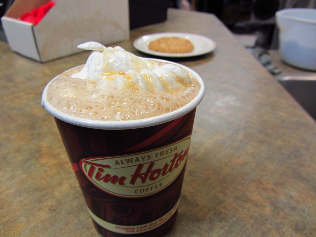 cup of Tim Hortons coffee