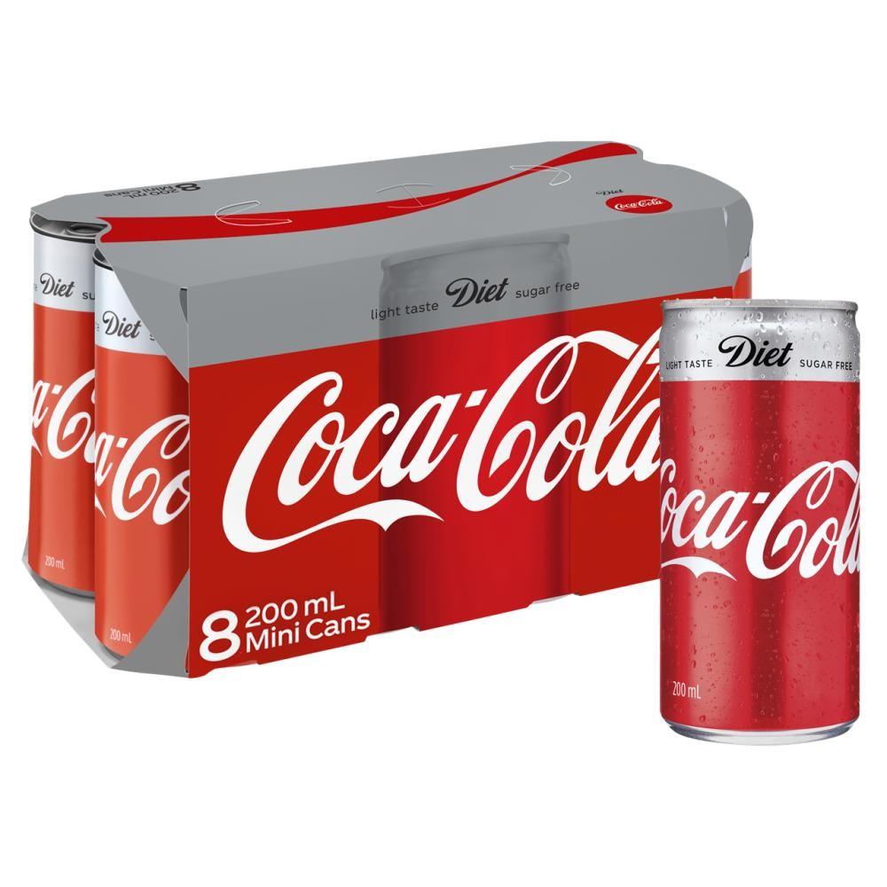8 cans coca-cola
