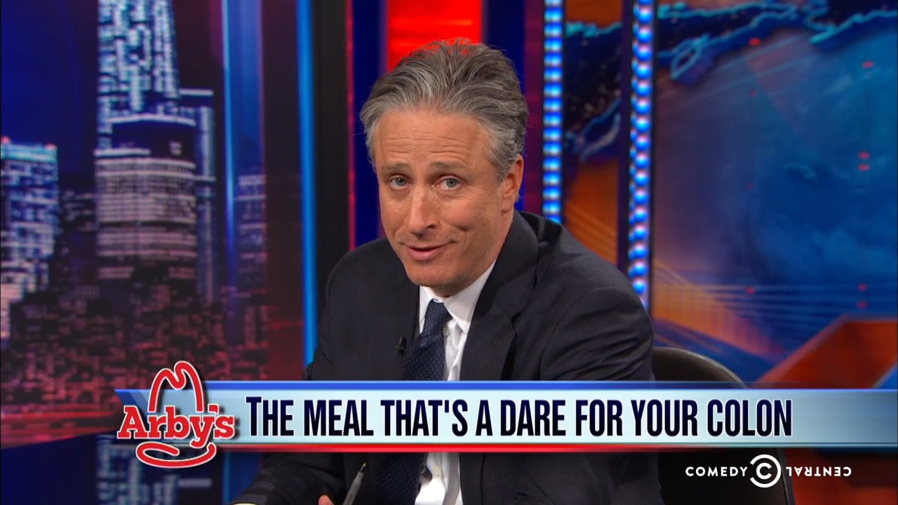 jon stewart ribbing on Arby's