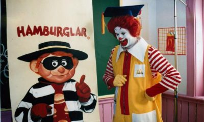 Ronald McDonalds and the Hamburglar Hamburger University commercial