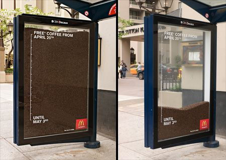 Free Coffee Bus Stops