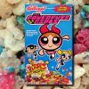 Powerpuff Girls Cereal Box on cereal background