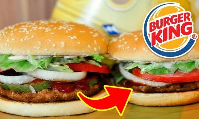 Two Whoppers with the Burger King logo