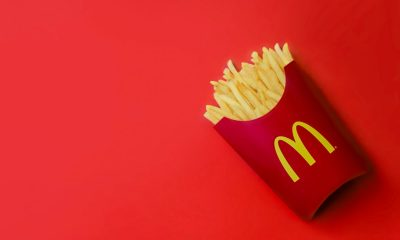 Mcdonald's Fries on Red Background