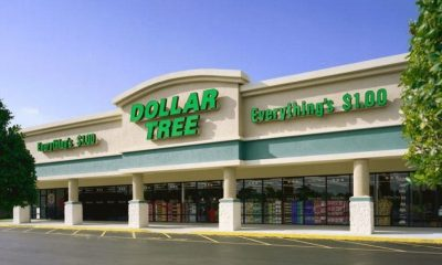 Image shows the outside of a Dollar Tree.
