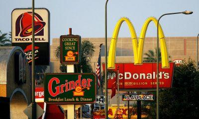 Fast Food Strip on Road