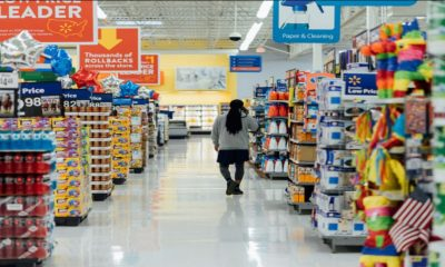 The aisles of a standard grocery store