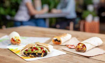 The image shows 4 vegetarian Taco Bell burritos.
