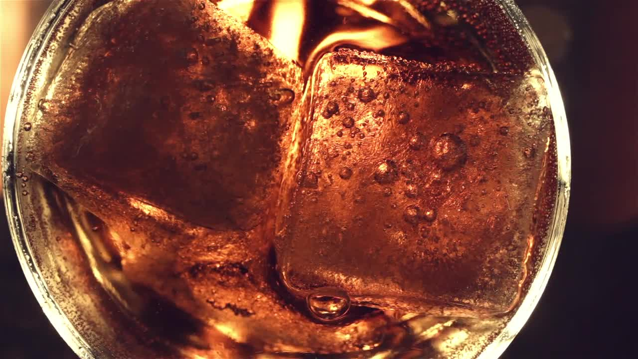 Ice Cubes In Soda