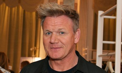 Gordon Ramsay in Black Shirt with Puckered Lips