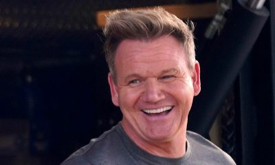 Gordon Ramsay Looking Right and Smiling