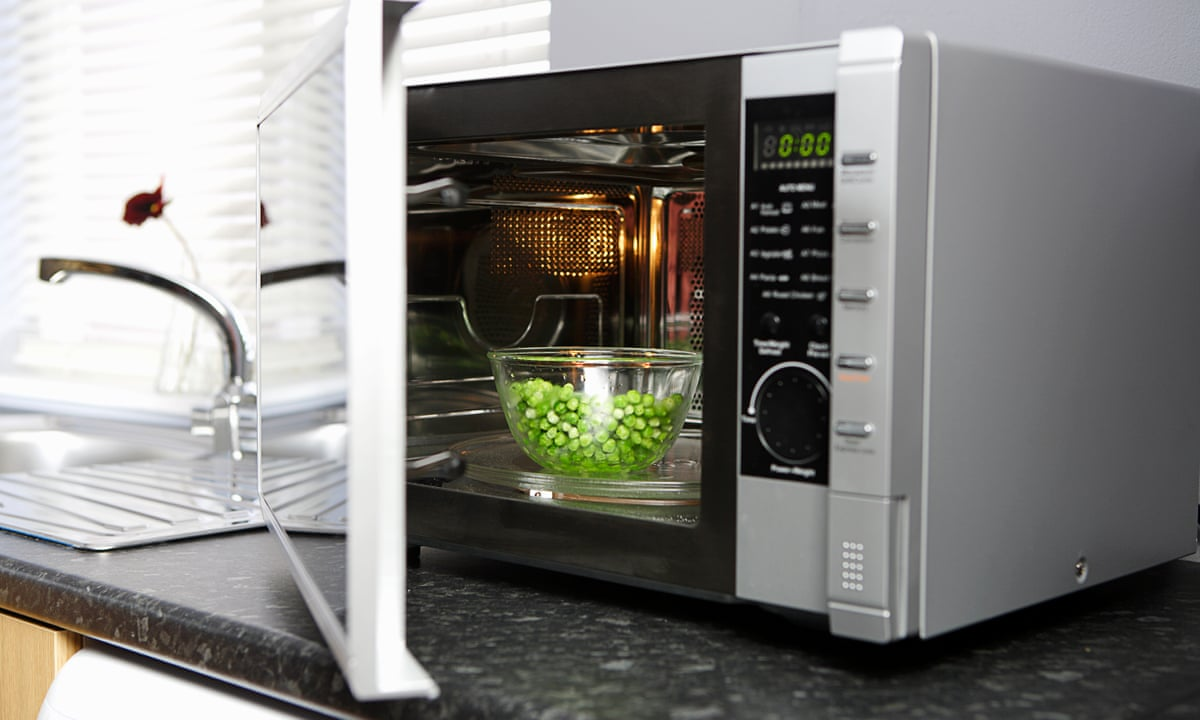Microwave Oven with Grapes