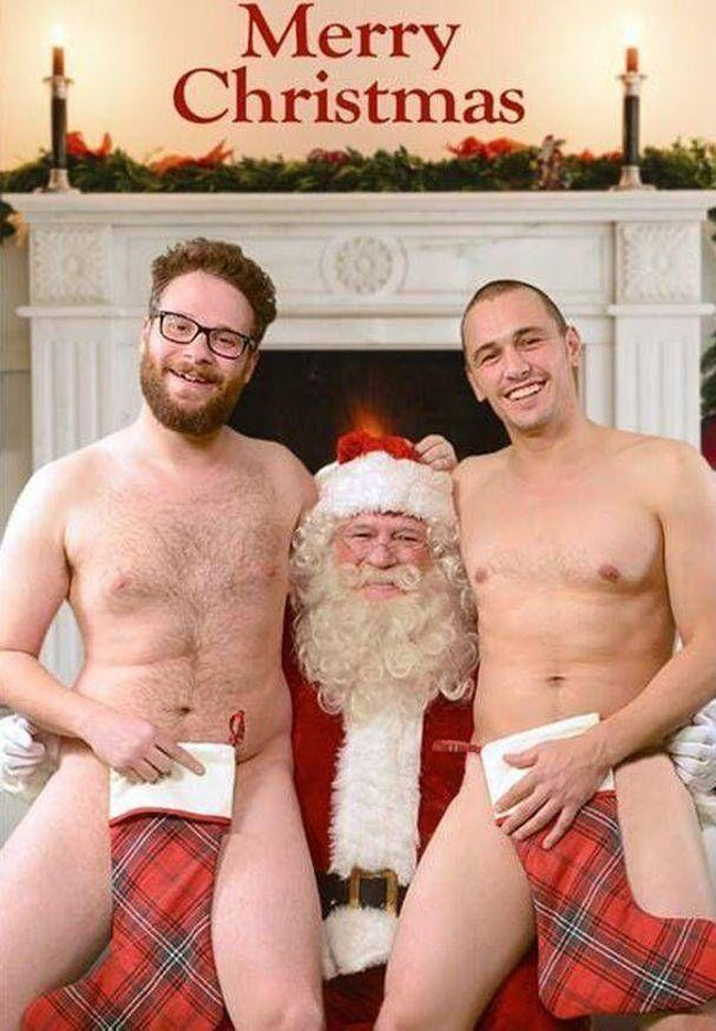 awkward xmas photos celebrities 1 james franco seth rogen