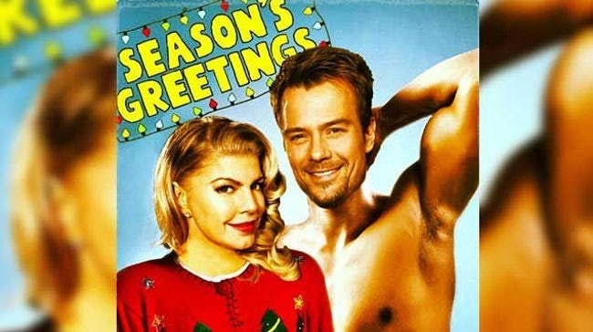 awkward xmas photos celebrities 15 fergie josh duhamel