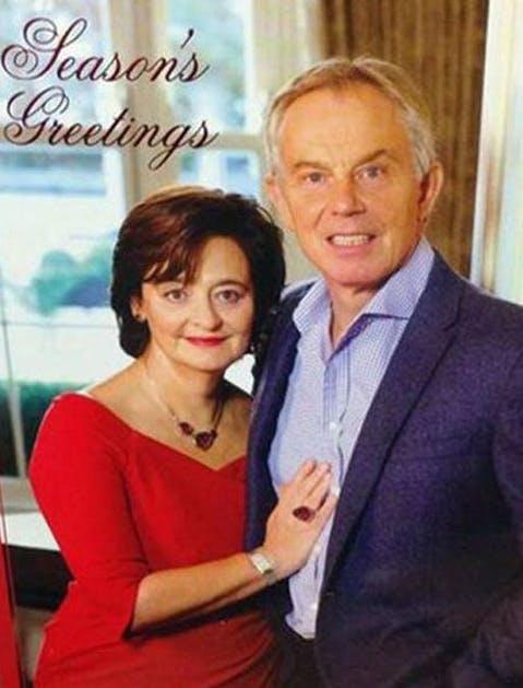 awkward xmas photos celebrities 24 UK Prime Minister