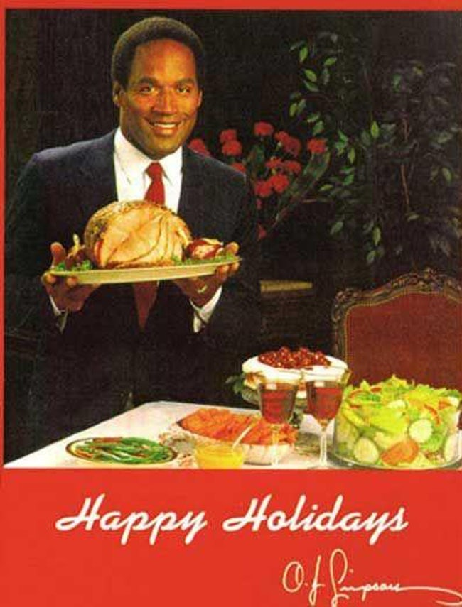 awkward xmas photos celebrities 9 OJ simpson